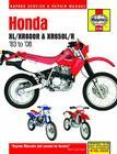 Honda XL/XR600R & XR650L/R, 1983-2008 (Haynes Repair Manual) Cover Image