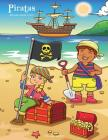 Piratas libro para colorear 1, 2 & 3 Cover Image