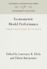 Econometric Model Performance: Comparative Simulation Studies of the U.S. Economy Cover Image