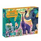 Asian Elephants Endangered Species 300 Piece Puzzle Cover Image