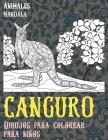Dibujos para colorear para niños - Mandala - Animales - Canguro Cover Image