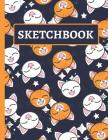 Sketchbook: Cute Smiling Cat Sketchbook for Kids Cover Image