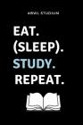 #bwl Studium Eat. (Sleep). Study. Repeat.: A5 Notizbuch LINIERT für Studenten - Coole Geschenkidee zum Studienstart - Abitur - ersten Semester - Schul Cover Image