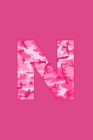 N: Writing Journal Diary for Active Duty or Deployed Military Service Member with Pink Camouflage Camo Initial. 6