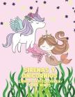 Sirenas y Unicornios Libro para colorear para niños Cover Image