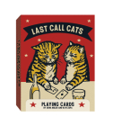 Last Call Cats Playing Cards Cover Image