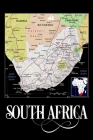 South Africa: Map of South Africa Notebook Cover Image