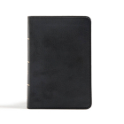 CSB Large Print Compact Reference Bible, Black LeatherTouch Cover Image