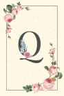 Daily To Do List Notebook Q: Simple Floral Initial Monogram Letter Q - 100 Daily Lined To Do Checklist Notebook Planner And Task Manager Undated Wi Cover Image