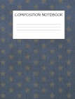 Composition Book: Stars Cover for Kids Military Families, Elementary School Wide Ruled 120 Pages Cover Image