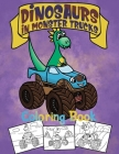 Dinosaurs In Monster Trucks Coloring Book: Dinosaur Coloring Book For Kids Ages 4-8 - Gift For Boys Cover Image
