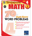 Singapore Math 70 Must-Know Word Problems Level 4, Grade 5 Cover Image