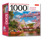 Samurai Castle & Cherry Blossoms- 1000 Piece Jigsaw Puzzle: Cherry Blossoms at Himeji Castle (Finished Size 24 in X 18 In) Cover Image