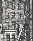 Iconic Greenwich village New York Drawing writing Journal Cover Image