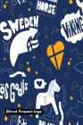Blood Pressure Log: Seamless Pattern with Sweden Cover Cover Image