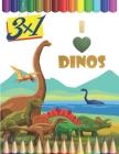 恐竜の塗り絵 Dinosaur Coloring Book for Kids: 60の愛らしい、大人&# Cover Image