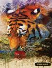 Quad Grid: Tiger Composition Notebook Graph Ruled Paper, 4x4 Squared for Math & Science Graphing Cover Image