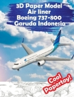 3D Paper Model Air liner Boeing 737-800 Garuda Indonesia: Gather Your Super Toy Airplane Simply and Interestingly Cover Image