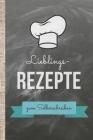 Lieblingsrezepte zum Selberschreiben: Kochbuch selbst schreiben! Das 120 Seiten starke A4 Notizbuch mit praktischem Innenteil bietet genügend Platz fü Cover Image