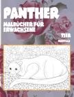 Malbücher für Erwachsene - Mandala - Tier - Panther Cover Image