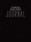 Black Paper Journal: Hardcover Lined Journal With Black Pages, 8.5x11 Minimalism Notebook For Writing Cover Image
