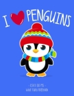 I Love Penguins: School Notebook Animal Lover Girl Boy Gift 8.5x11 Wide Ruled Cover Image