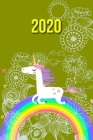 2020: My personal organizer 2020 with Unicorn Design - personal organizer 2020 - weekly calendar 2020- monthly calendar for Cover Image