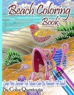 Beach Coloring Book- Large Print Summer Fun Mosaic Color By Numbers For Adults: Ocean Art For Stress Relief and Relaxation Cover Image