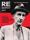 Re/Search 4/5: William S. Burroughs, Throbbing Gristle, Brion Gysin Cover Image