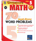 70 Must-Know Word Problems, Grade 6 (Singapore Math 70 Must Know Word Problems) Cover Image