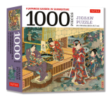 A Japanese Garden in Summertime - 1000 Piece Jigsaw Puzzle: A Scene from the Tale of Genji, Woodblock Print (Finished Size 24 in X 18 In) Cover Image