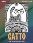Libri da colorare per adulti - Divertente e facile - Animali - Gatto Cover Image