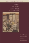 Early Modern Japanese Literature: An Anthology, 1600-1900 (Abridged Edition) (Translations from the Asian Classics) Cover Image
