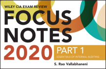 Wiley CIA Exam Review 2020 Focus Notes, Part 1: Essentials of Internal Auditing Cover Image