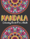 Mandala Colouring Book For Adults: Mandala Colouring Book for Adults: Mandalas on Black Background Colouring and Relaxing (Stress Relief) 50 free colo Cover Image