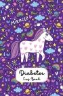 Diabetes Logbook: Unicorn Diabetis logbook with breakfast lunch dinner snacks bedtime record Cover Image