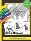 Dog Mandalas: Large & Simple 42 Pages Stress Relief Coloring Book for Kids & Adults - Relaxation Drawing Mandala Coloring Book which Cover Image