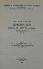 The Register of Edmund Lacy, Bishop of Exeter 1420-1455, Vol. 3 the Register of Edmund Lacy, Bishop of Exeter 1420-1455, Vol. 3: Registrum Commune (Devon and Cornwall Record Society) Cover Image