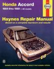 Honda Accord 1984-1989 (Haynes Manuals) Cover Image