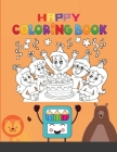 Happy Coloring Book: Monsters and Woodland Animal and Fruit, Veggie and Children Hobby Cover Image