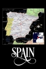 Spain: Map of Spain Notebook Cover Image