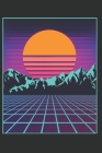 Japanese Aesthetic Vaporwave Sun Mountain Otaku Anime Cartoon Journal: 90s 80s Retro Japan Lover Notebook - 120 Pages Blank Lined Paper Diary for Japa Cover Image