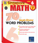 70 Must-Know Word Problems, Grade 7 (Singapore Math 70 Must Know Word Problems) Cover Image