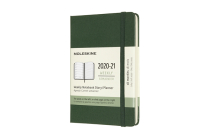Moleskine 2020-21 Weekly Planner, 18M, Pocket, Myrtle Green, Hard Cover (3.5 x 5.5) Cover Image