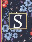 S: Monogram Initial S Notebook for Women and Girls, Blue Floral (Monogram Gifts for Women) Cover Image