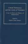 Liberal Democracy and the Limits of Tolerance: Essays in Honor and Memory of Yitzhak Rabin Cover Image