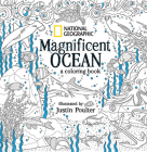 National Geographic Magnificent Ocean: A Coloring Book Cover Image