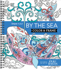 Color & Frame - By the Sea (Adult Coloring Book) Cover Image