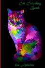 Cat Coloring Book: for Adults: Coloring Pages for Adults Cover Image