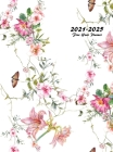 2021-2025 Five Year Planner: 60-Month Schedule Organizer 8.5 x 11 with Floral Cover (Volume 3 Hardcover) Cover Image